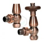 Bentley Traditional 15 mm Antique Copper TRV & Lockshield Valve Set