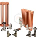 Rose Gold Column Radiator and Valves In A Package Deal