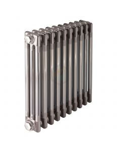 450H x 444W 3 Column Horizontal Raw Metal Lacquered Radiator