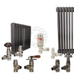 Hammered Volcanic Column Radiator and Valves In A Package Deal