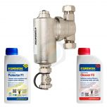 Fernox TF1 Omega Filter 22mm (No Valves) Chemical Pack