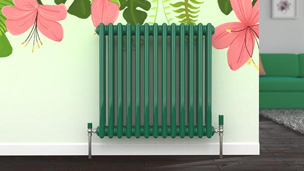 Turquoise Green Column Radiator