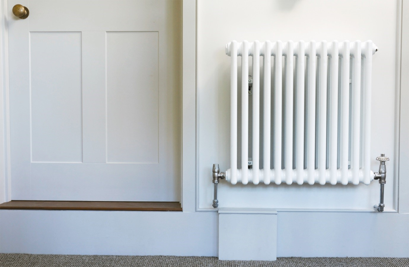 Modern home décor with radiators for each room