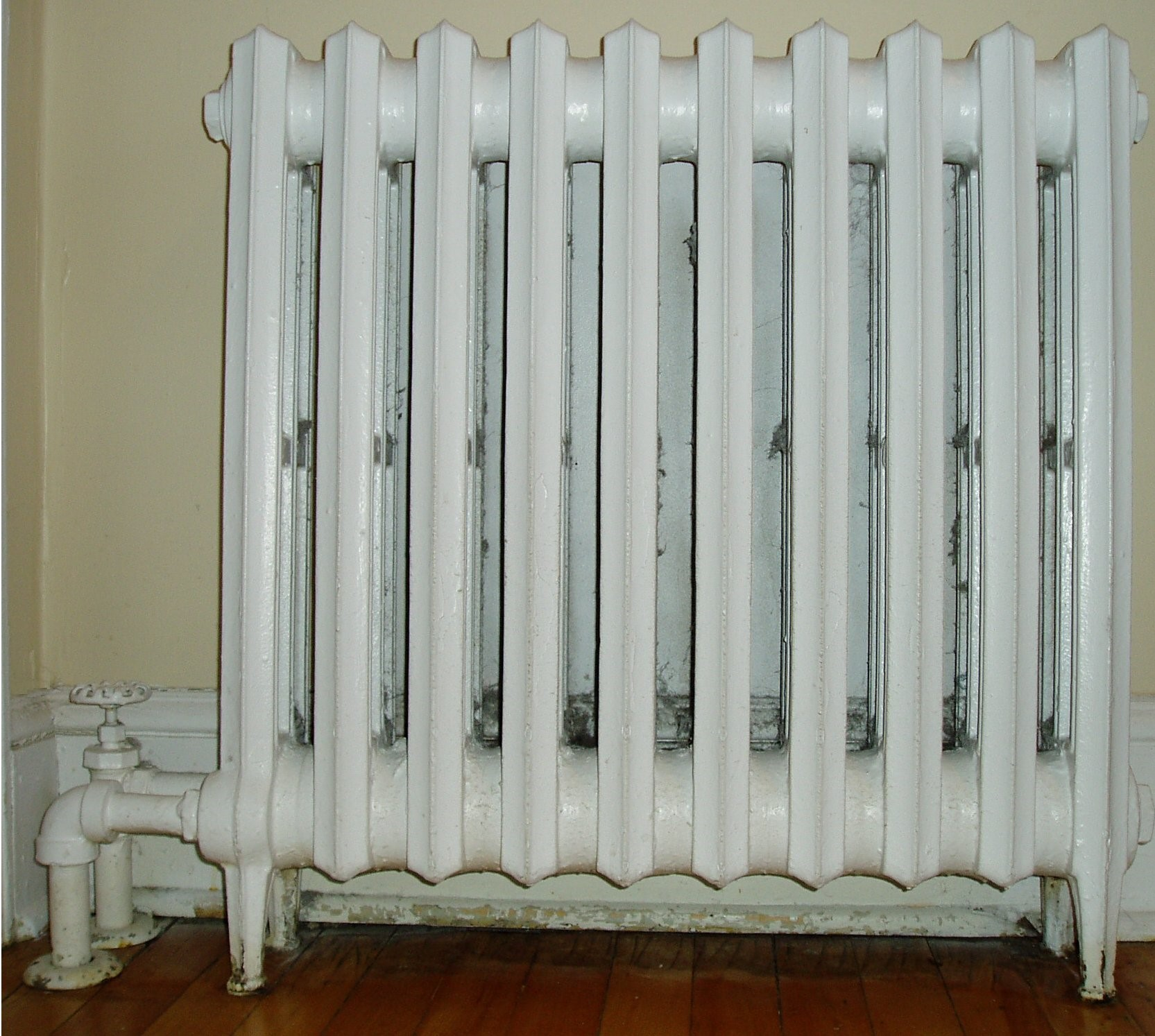 replacing a radiator at home